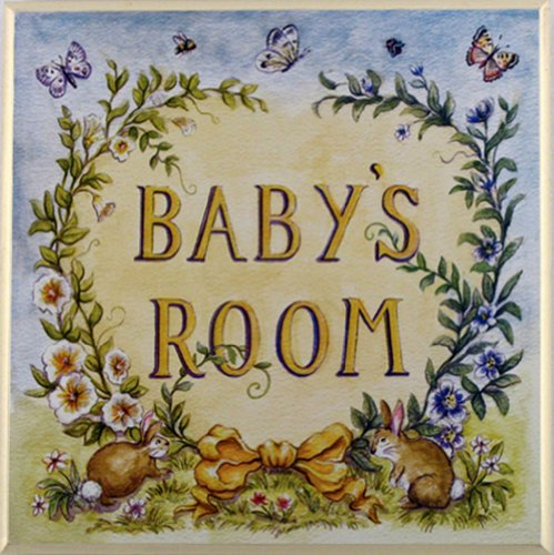The Kids Room by Stupell Baby's Room with Bunnies Square Wall Plaque