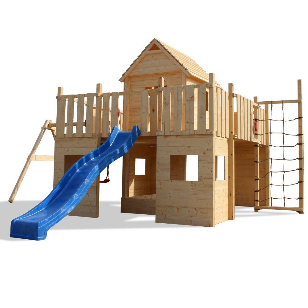 fort fox spielturm holzspielhaus rutsche schaukel. Black Bedroom Furniture Sets. Home Design Ideas