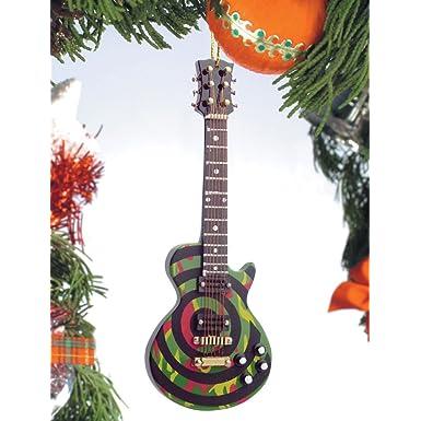 Camo Bullseye Electric Guitar Ornament