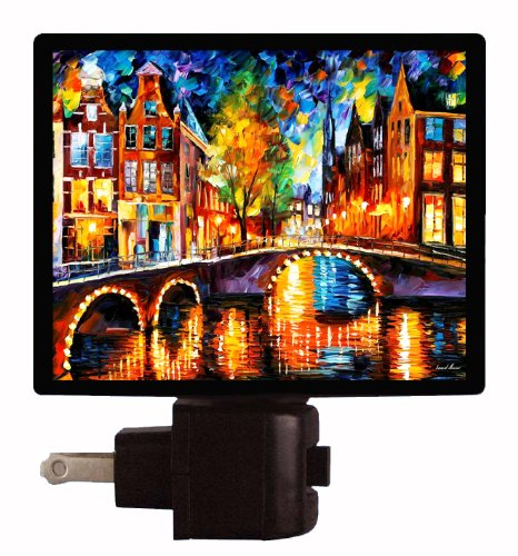 Holland Night Light - The Bridges Of Amsterdam - Dutch Led Night Light