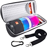 COMECASE Hard Travel Case for JBL Pulse 3 Wireless Bluetooth IPX7 Waterproof Speaker [ Fits USB Plug and Cable & More ] (Color: Black, Tamaño: Large)