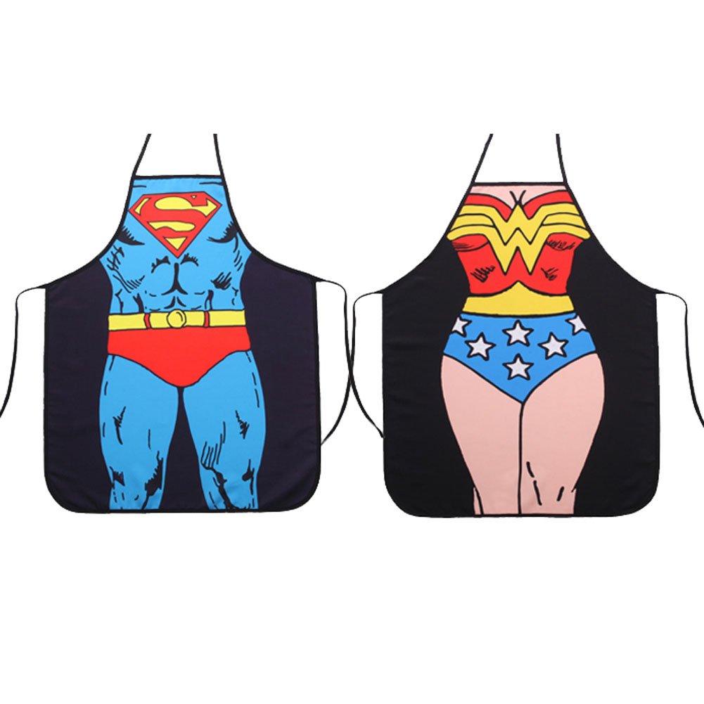 Superman & Wonderwoman Apron Set - on sale for $12.99!