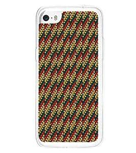 Colourful Pattern 2D Hard Polycarbonate Designer Back Case Cover for Apple iPhone 5C