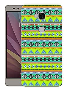 """Humor Gang Green Aztec Ethnic Print Printed Designer Mobile Back Cover For """"Huawei Honor 5X"""" (3D, Matte, Premium Quality Snap On Case)"""