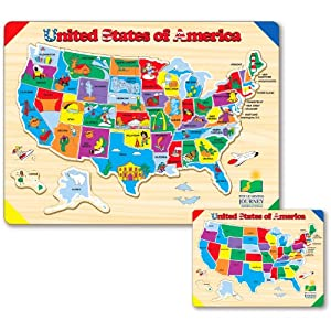 The Learning Journey Lift and Learn USA Map Puzzle from The Learning Journey International