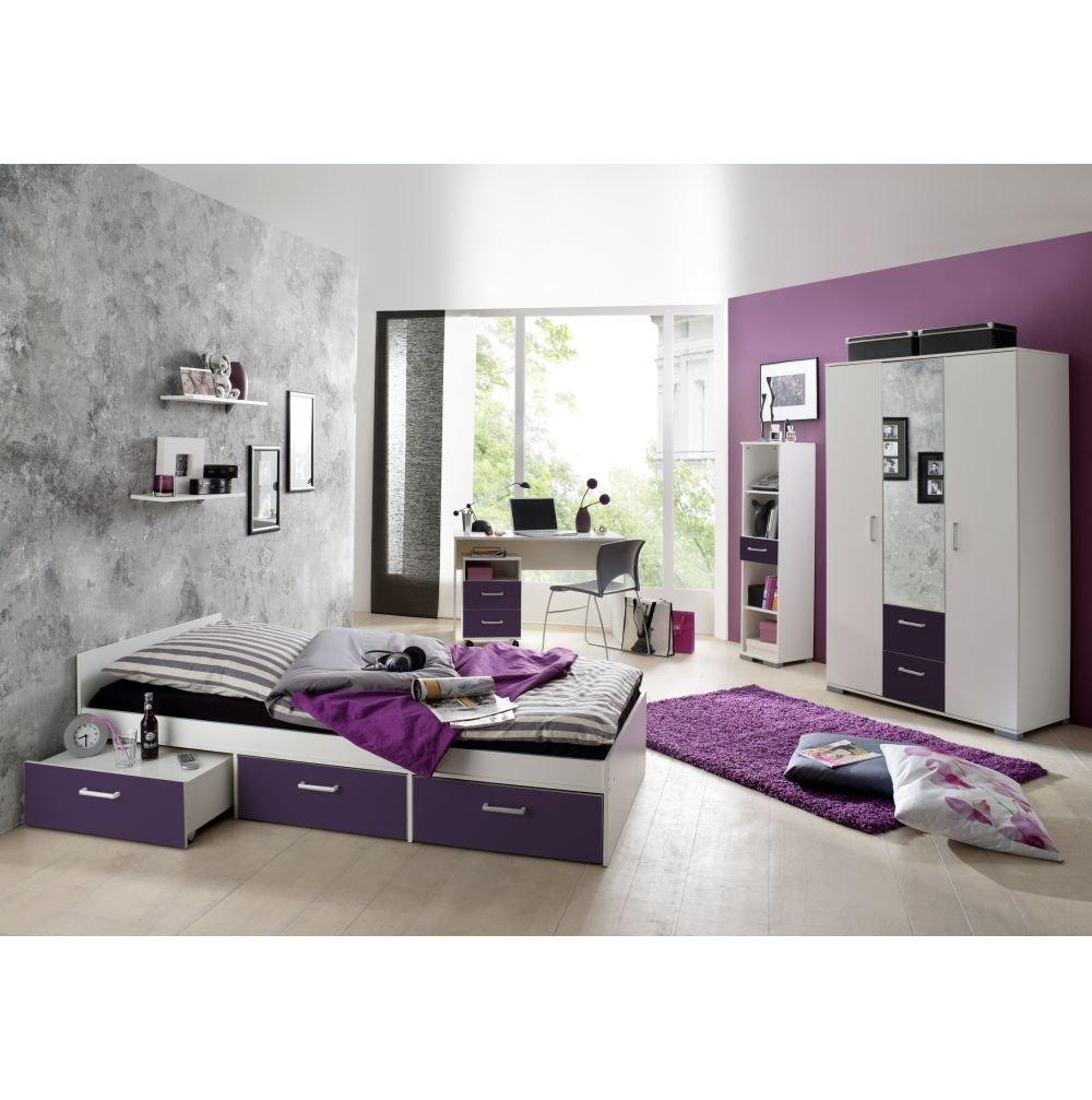 Jugendzimmer Steffi Weiss/Lila 6 tlg.  Kundenbewertung und weitere Informationen