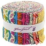 "Anna Maria Horner True Colors Design Roll 20 Strips 2.5"" Jelly Roll Free Spirit Fabrics"