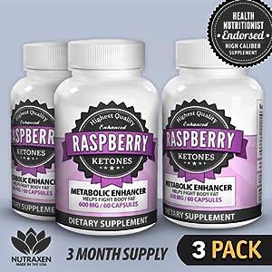 NutraXen - Enhanced Raspberry Ketones - 100% Natural Metabolic Enhancer - 3 Bottles