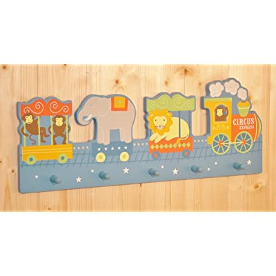 Circus Express Childrens' Coat Hook Rack (monkeys, elephant, lion at the zoo)