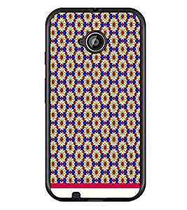PrintDhaba Floral Pattern D-1543 Back Case Cover for MOTOROLA MOTO E2 (Multi-Coloured)