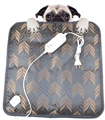 Namsan Safe Pet Dog Cat Bed Electric Heating Blanket, Waterproof Mat, Winter Warm Pad Grey
