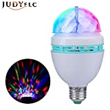 JUDYelc Rotating Stage Bulb Lamp Voice Control Rotary Full Color LED Mini Lamp party Light Moving Party Stage DJ Light Projector for Disco Stage Party