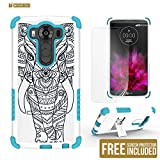LG V10 Case, V10 Case, Beyond Cell®High Impact Armor Hybrid Rugged Durable Phone Case With Built in kickstand-FREE Screen Protector-Tribal Elephant