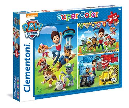 Paw Patrol - Puzzle SuperColor, 3 x 48 piezas (Clementoni 25209)