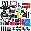 LifeLimit Accessories Starter Kit for Gopro 4, Hero 3/2/HD/HERO+ (Wi-Fi Enabled) LCD Black Silver Cameras