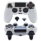 Pandaren FPS Ultra-Armor Gear case Cover for PS4 /Slim/PRO/Playstation 4 Controller (White) (Color: White, Tamaño: PS4)