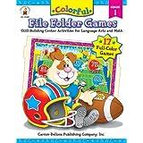 Colorful File Folder Games, Grade 1: Skill-Building Center Activities for Language Arts and Math ~ Debra Olson Pressnall