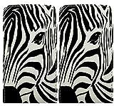 Gr8value HTC Windows Phone 8x Pu Leather Wallet Flip Book Case Cover + Free Mini Touch Stylus Pen (Zebra Face Flip Case))