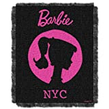 The Northwest Company Mattel Acrylic Tapestry Throw 48 By 60-Inch Barbie New York City