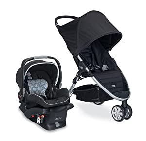 B-Safe and Britax B-Agile Travel System - Best baby stroller carseat combo