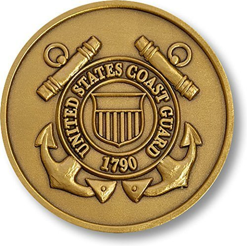 Coast Guard Adhesive Medallion 1 3/4""