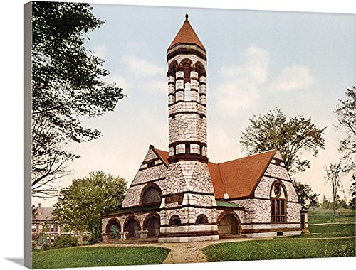 Henry Ford Premium Thick-Wrap Canvas Wall Art Print entitled Rollins Chapel Dartmouth College New Hampshire Vintage Photograph