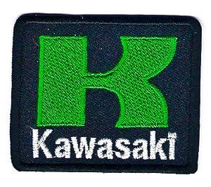 Kawasaki logo badge sign symbol embroidery for Decoration jewels mhw
