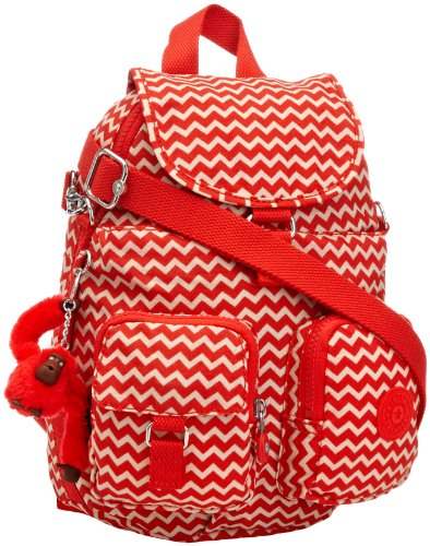 Kipling Womens Firefly N Backpack K13108A90 Chevron Red PR