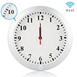 Poetele Upgraded 1080P WiFi Secret Camera Wall Clock Security with Motion Detection,Mini Pinhole Camera,Nanny Camera,Surveillance Cameras Video Recorder,Support IOS/Android/PC Remote Real-time Vide