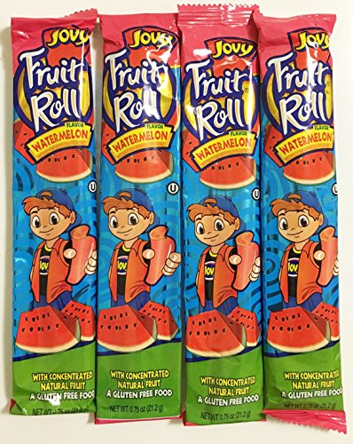 0.75oz Jovy Fruit Roll Snack, Watermelon (4 Packets Per Order) (Jovy Fruit Rolls compare prices)