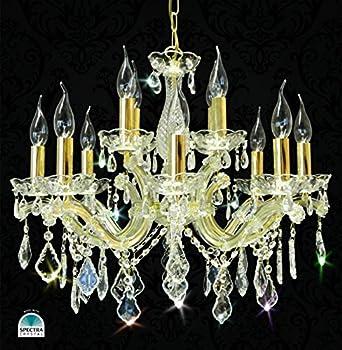 kronleuchter kristall l ster 12leuchten 55cm gold spectra. Black Bedroom Furniture Sets. Home Design Ideas