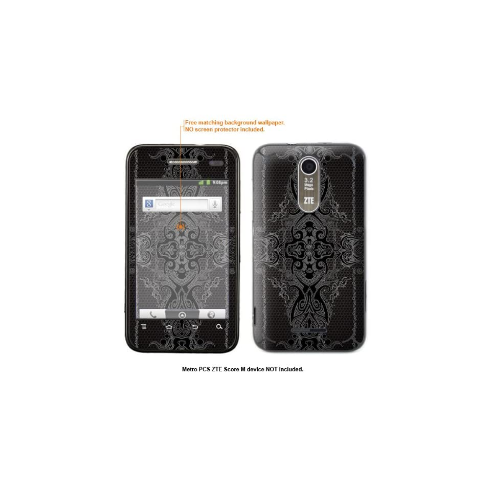 Protective Decal Skin Sticker for Metro PCS ZTE Score M case cover ZTEscoreM 25