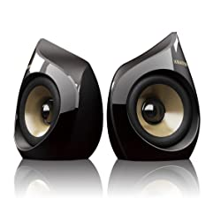 Krator Neso 04 5W 2.0ch USB Speakers For iPhone & iPod - Black