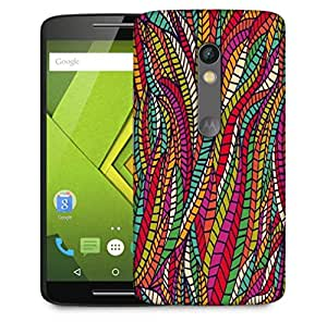 Snoogg Seamless Abstract Hand Drawn Waves Pattern Designer Protective Phone Back Case Cover For Motorola Moto X Play