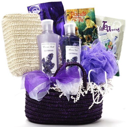 Tranquil Delights Lavender Spa Bath and Body Gift Set - Tea & Cocoa Gift Basket