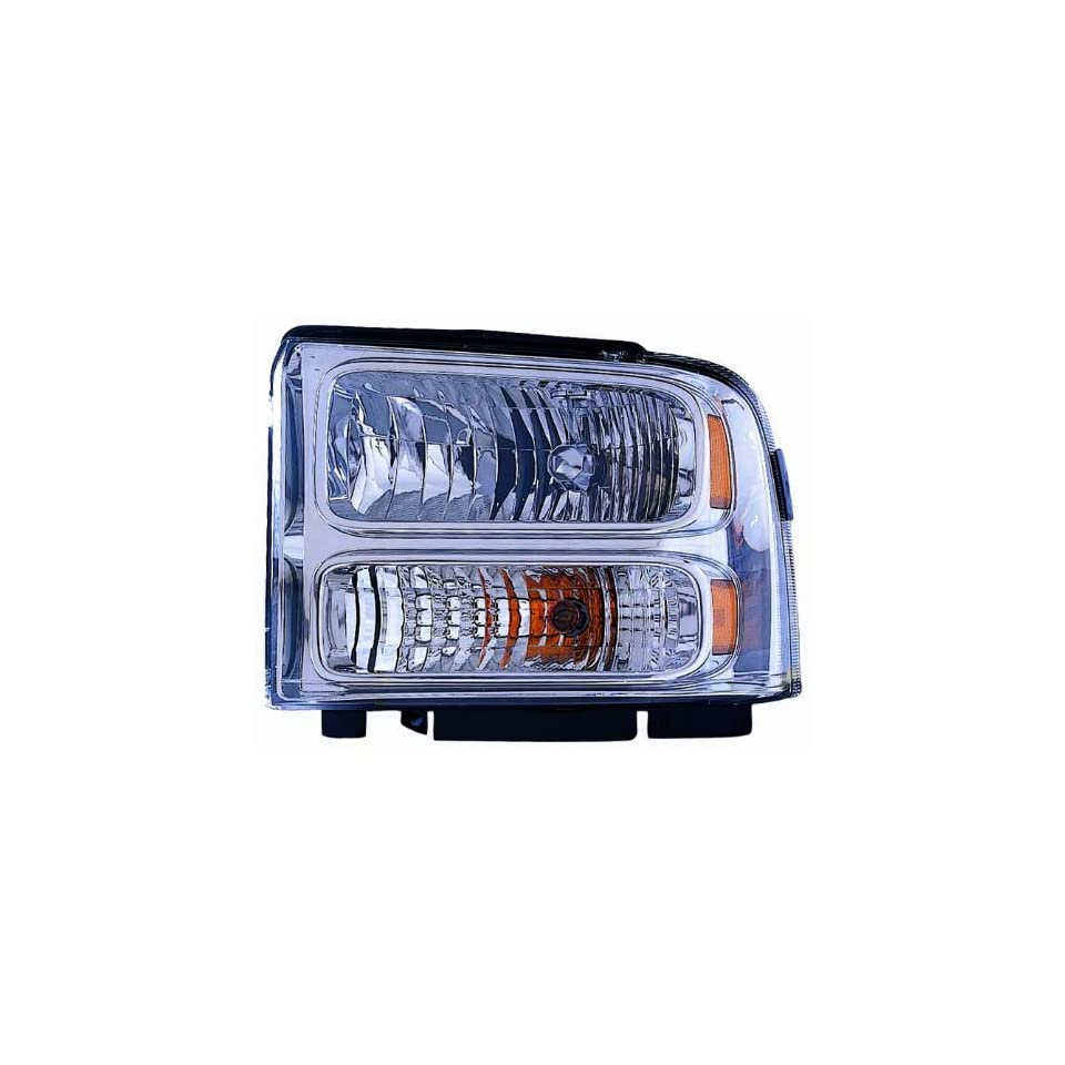 Depo 330 1128R AC1 Ford Super Duty Right Hand Side Chrome CAPA Certified Head Lamp Assembly