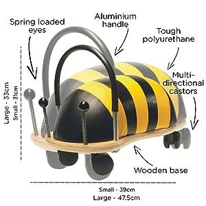 Prince Lionheart Wheely Bug, Bee, Small (Color: Bee, Tamaño: Small)
