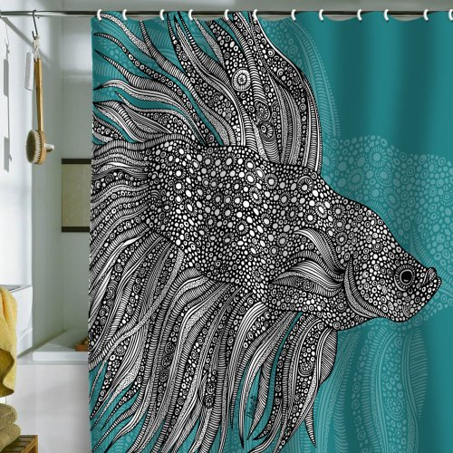 DENY Designs Valentina Ramos Beta Fish Shower Curtain, 69 by 72-Inch