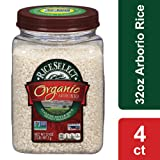 Riceselect Organic Arborio Rice, 32 oz Jars (Pack of 4) (Tamaño: 32 Ounce (4 Count))