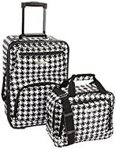 Rockland Luggage 2 Piece Printed Luggage Set, Kensington, Medium