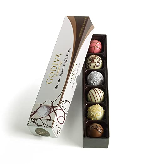 Godiva Chocolatier Dessert Truffle, Ultimate Flight, 6 Count