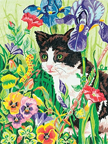 Dimensions Needlecrafts Paintworks/Pencil by Number, Kitty In Flowers - 1