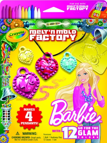 Crayola Melt N Mold Barbie Crayon Expansion Pack front-1005978
