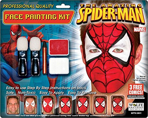 Costumes For All Occasions Wfsm01 Spiderman Makeup Kit Wolfe Bro