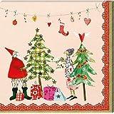 20 Servietten * Weihnachten * von Silke Leffler im Grätz-Verlag // SER 28107 // Papierservietten Napkin Deko 3-lagig Weihnachten Advent Heiliger Abend Weihnachtsmann
