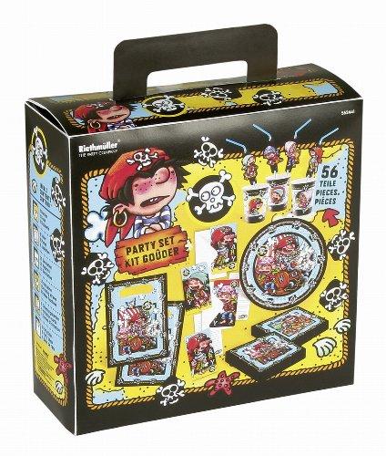 Riethmüller 552441 - Kit para fiestas (56 piezas), diseño de piratas