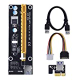 3 Pack PCI-E Express 1x to 16x Extender Riser Card Adapter (With 60cm USB Cable)