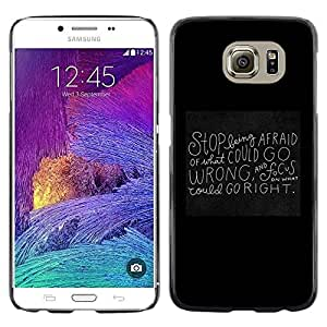 Omega Covers - Snap on Hard Back Case Cover Shell FOR Samsung Galaxy S6 - Blackboard Black Motivational Inspiring Quote
