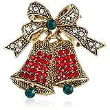 BERRICLE Rhinestone Bell Womens Fashion Brooch