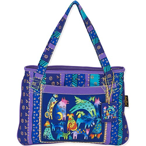 laurel-burch-medium-tote-15-by-11-inch-mythical-dogs